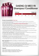 Shampoo for all hair