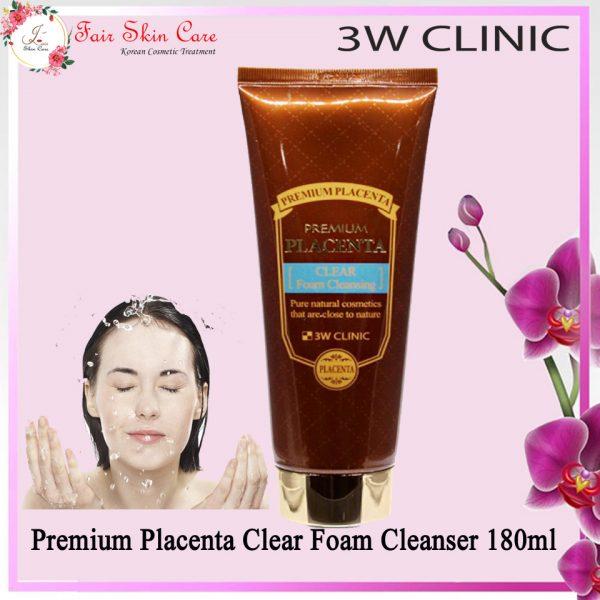 Premium Placenta Clear Foam Cleanser 180ml